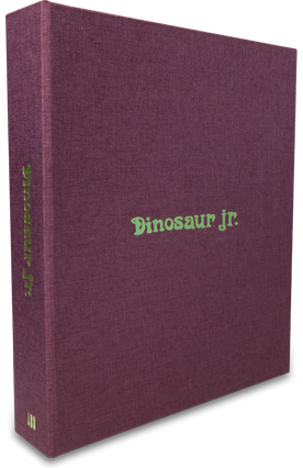 Visual of the Dinosaur Jr. book, published by Rocket 88